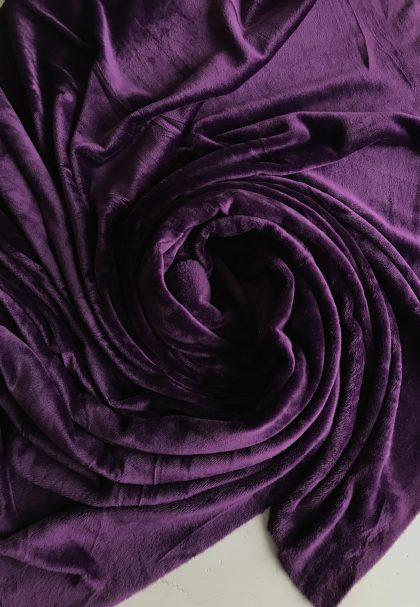 SOFT veliūras tamsus violetinis