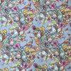 Gėlės džinse skaitmeninė spauda kilpinukas