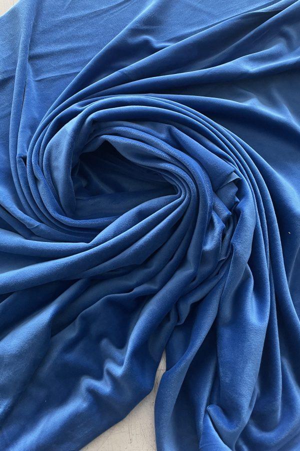 Soft veliūras mėlynas kaip džinsas