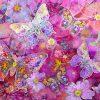 Gėlėti drugeliai džersiukas skaitmeninė spauda